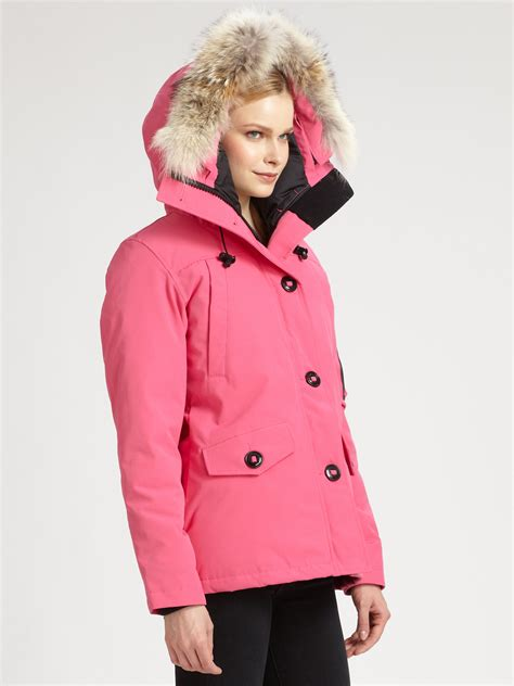 canada goose montebello parka in pink lyst