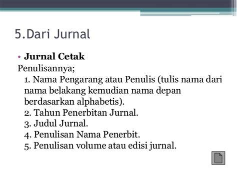 penulisan daftar pustaka dari jurnal tanpa penulis penulisan daftar pustaka dan catatan kaki