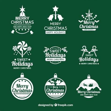 christmas logo logo collection vector free