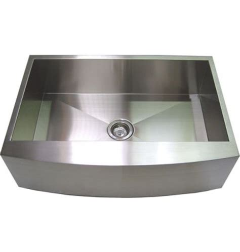 Curved Kitchen Sink 33 Inch Stainless Steel Curved Front Farm Apron Kitchen Sink Single Bowl