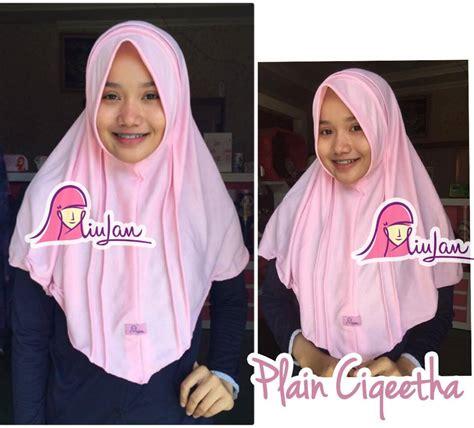 Jilbab Instant Kaos Bcc plain ciqeetha miulan store
