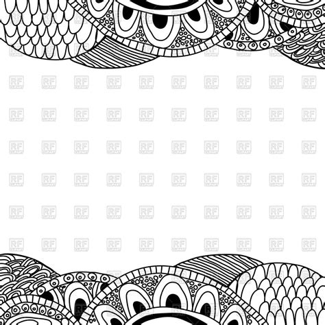 free vector doodle background doodle black and white background vector image 44717