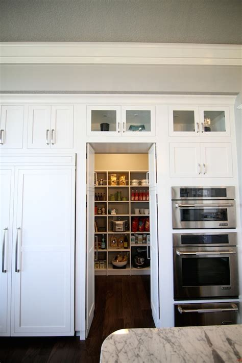 Bi Fold Kitchen Cabinet Doors Pantry Transitional Kitchen Neighborhood Builders
