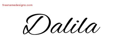 design a name tattoo online free cursive name designs dalila free free