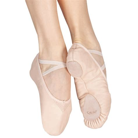 capezio split sole leather cobra ballet shoes