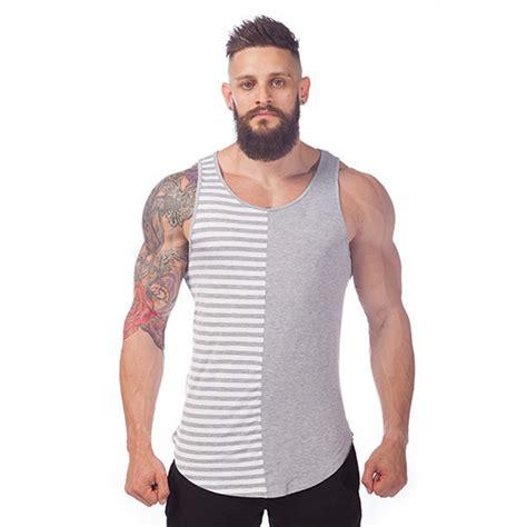 popular clothes for guys 2014 luxe stripe tank top men tank tops cotton singlet fashion