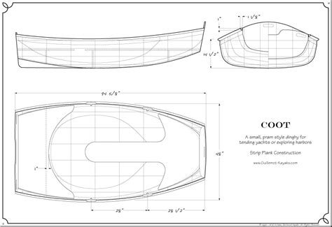 construction house plans coot dinghy plans guillemot kayaks small wooden boat