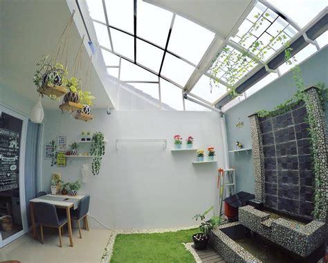 membuat jemuran di dalam rumah desain rumah unik tipe 45 meski mungil ada indoor garden