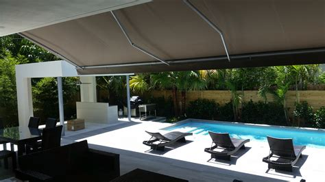 retractable awnings miami awnings products hugo awnings