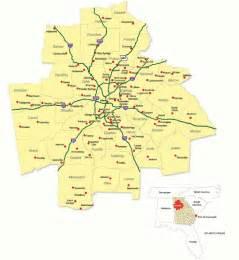 Atlanta County Map by Metro Atlanta Regional Map