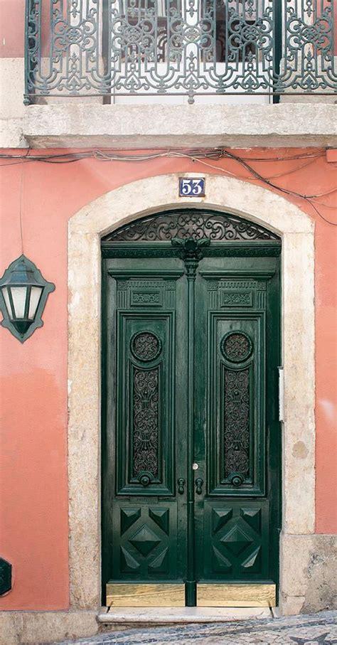 portugal photography door  hunter green door  lisbon