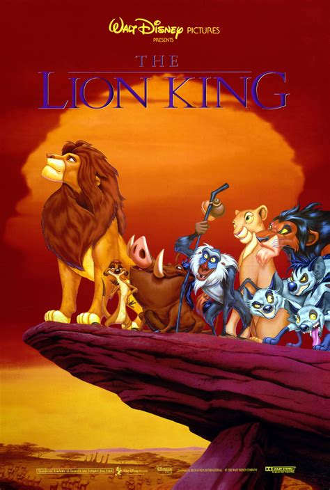 video film lion king the lion king original movie poster