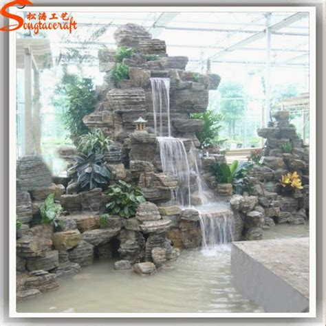 waterfalls decoration home landscape indoor wall home decoration waterfall fiberglass