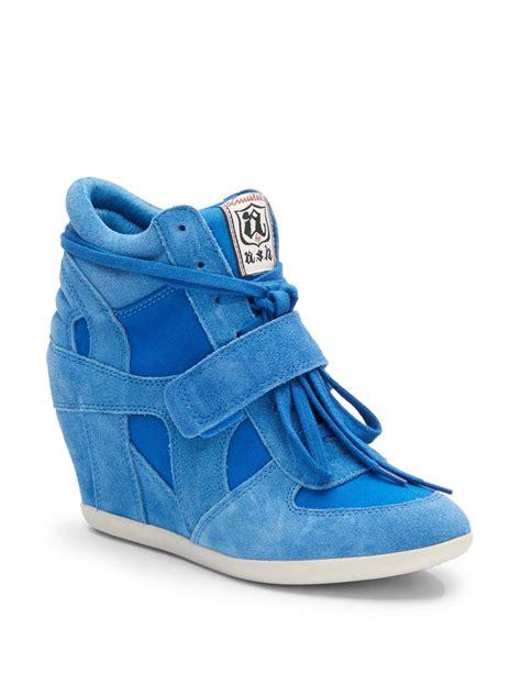royal blue sneakers ash bowie wedge sneakers in blue royal blue lyst