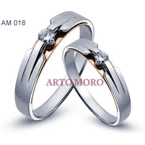 Cincin Kawin Emas Putih R1909 produk 171 cincin kawin tunangan