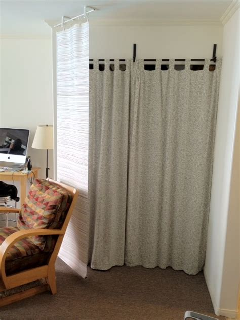 how to make curtain room dividers curtain panel bluff and room divider get home decorating