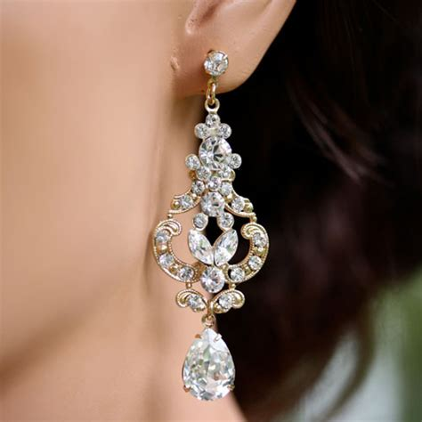 Hochzeit Ohrringe by Tips On Opting For Beautiful Bridal Earrings Cherry