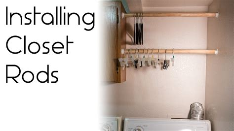 Wardrobe Rod - how to install a closet rod
