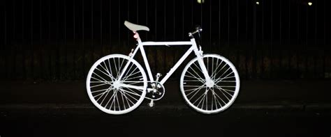 reflective bicycle an invisible spray on paint to keep bikers safe at night