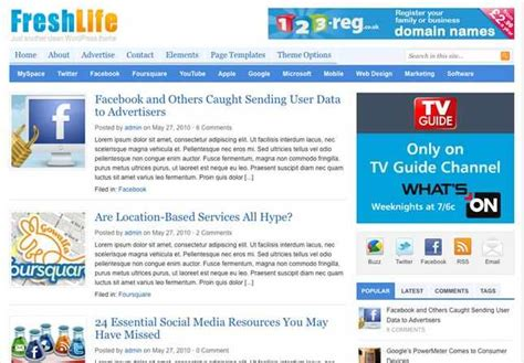 theme junkie freshlife 15 best premium magazine wordpress themes 2011 it zgeek