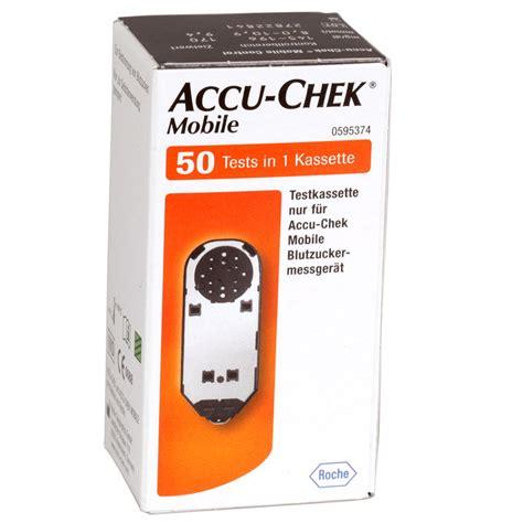 Accu Mobil Fb accu chek mobile testkassette blutzuckerteststreifen 50 st 252 ck diashop