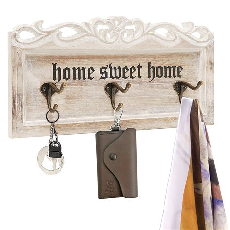 Vintage Floating Rack Sweet Home vintage white washed wood home sweet home decorative wall