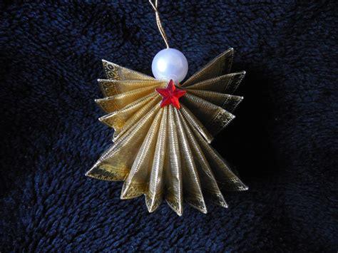 ribbon angel christmas ornament