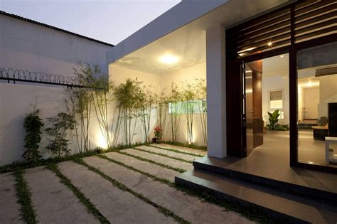 home entrance design a fresh home with open living area courtyard