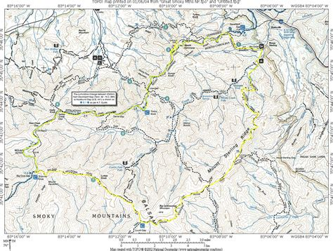gsmnp trail map great smoky mountains mount cammerer n2backpacking