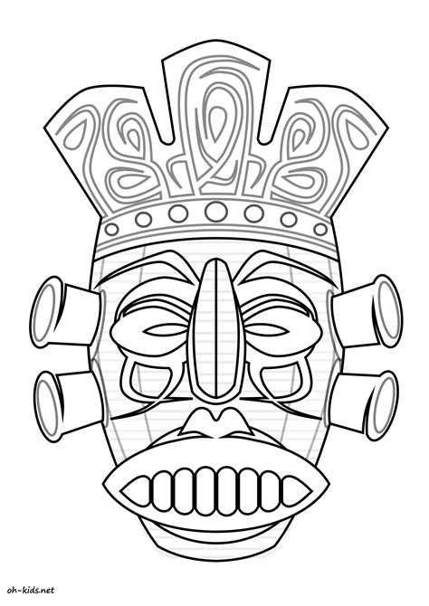 Pin Masques-anniversaire-enfant-coloriage-masque-carnaval