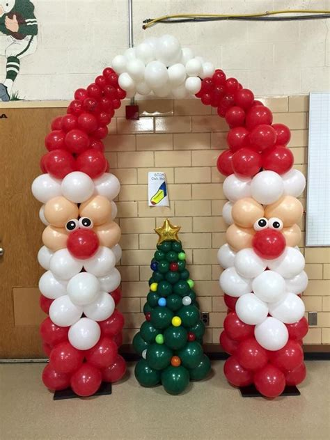 122 best christmas balloon decor images on pinterest