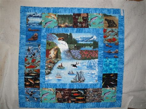 Theme Quilt by Alaska Themed Wallhanging Quilt