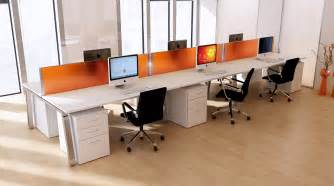 Office Bench Desks Bench Desks Desking From The Modern Office The Modern Office
