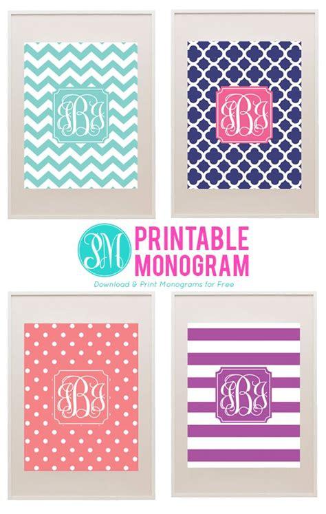monogram template free best 25 free printable monogram ideas on