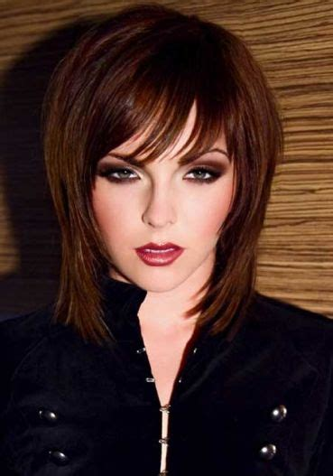 above shoulder shag layered bob with bangs 118 best images about above the shoulder on pinterest