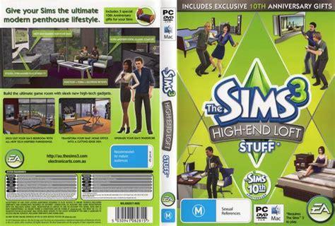 Pc Original The Sims 3 High End Loft Stuff Dlc Cd Key Origin pc cd cover the sims 3 high end loft stuff