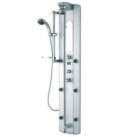 shop vigo stainless steel 1 vigo satin 6 jet shower panel system in stainless steel
