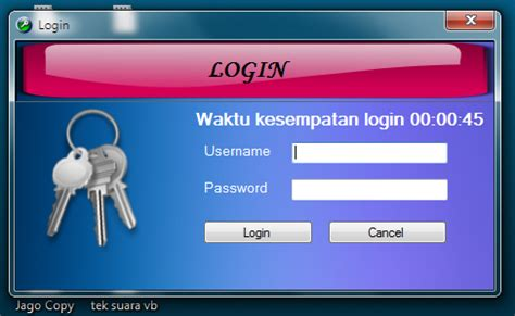 membuat form login dengan vb net dot net membuat form login berwaktu dengan vb dot net jago copy