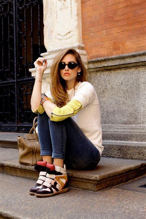 26630 Wedging Casual Top trendy ways to wear wedge sneakers glam radar