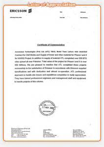 Appreciation Letter After Completing Project certificates of registration prequalification