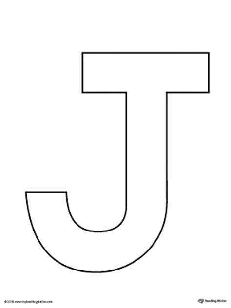 letter j template kindergarten printable worksheets myteachingstation