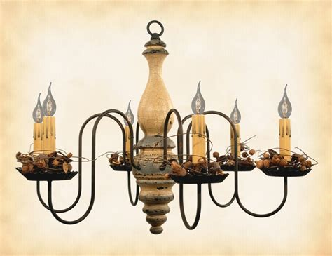 Handmade Chandeliers Lighting - quot quot wood chandelier buttermilk 6 candle country