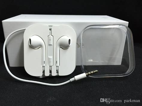 Headset Original Iphone original iphone 6 6plus 5s earphones headset with remote mic and volume for iphone