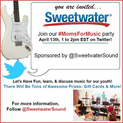 Sweetwater Gift Card - join sweetwatersound for a momsformusic twitter party visa gift cards and more