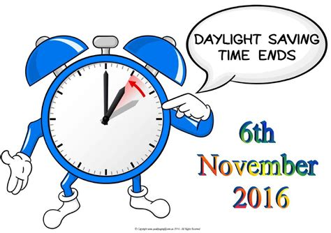 When Does Day Light Savings End by Daylight Savings Ends Usa 6th November 2016 Quality Aging