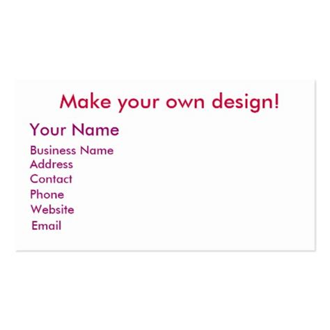 create my own business card template make my own business cards card design ideas