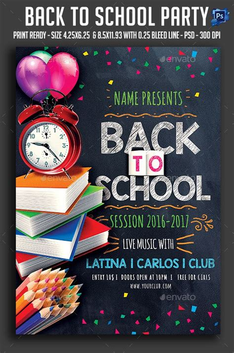 Back To School Church Flyer