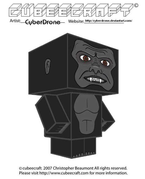 Kong Papercraft - cubeecraft king kong by cyberdrone on deviantart