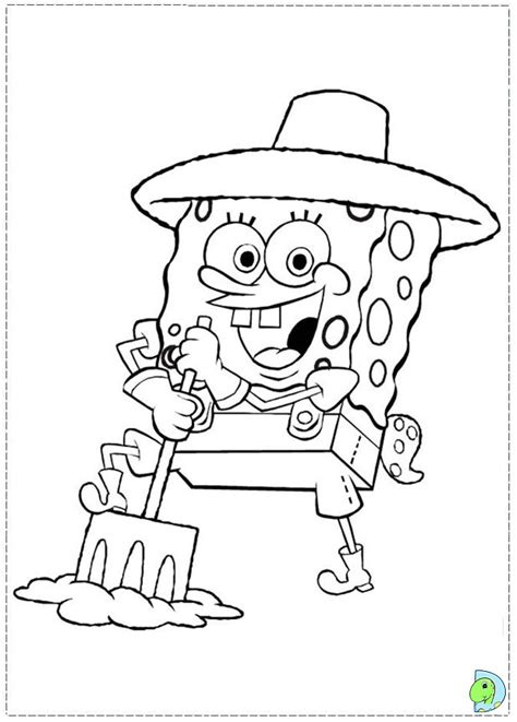 sea sponge coloring page coloring pages