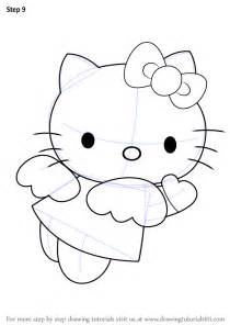 learn how to draw hello kitty angel hello kitty step by